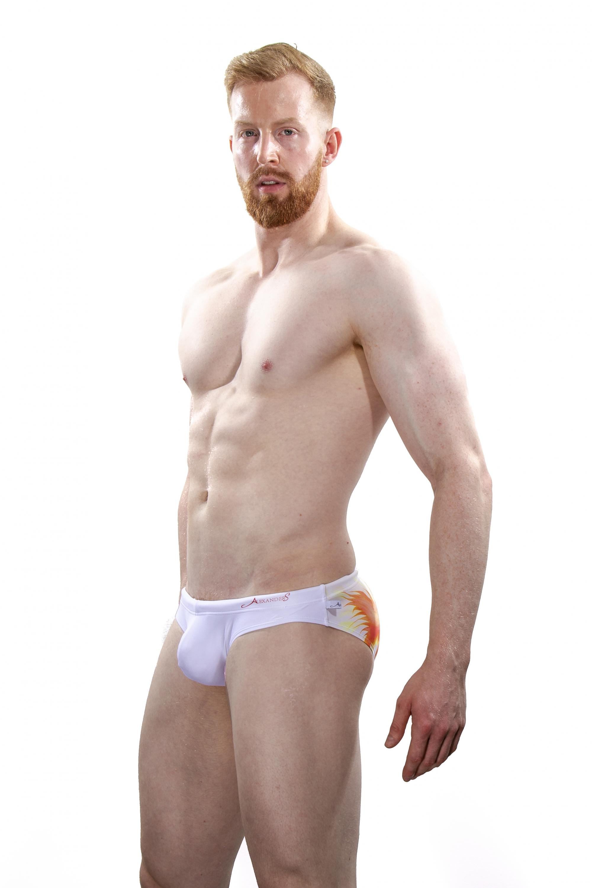 Shop sexy men's swimwear and underwear! AlexanderS Collection including new styles for mens swimwear, mens swim trunks, compression leggings, mens thongs, sexy